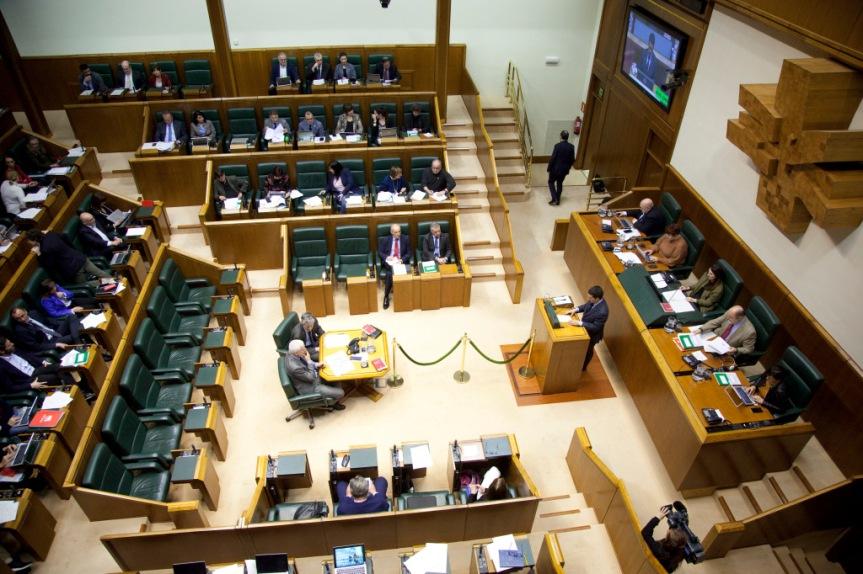 La marea pensionista presenta una iniciativa en el ParlamentoVasco.
